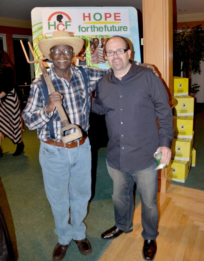 Director of the Home, Joe Kirima (Kirima means farmer in Kenya) and musician Jack Licitra at our October Halloween Gala. Joe was on Long Island to meet with the HCF board and network with potential donors.