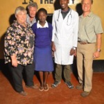 Mentors Yvette Hohler, Larry Hohler, and Ed Hyshiver with Elosy Kinya and Kelvin Koome. With financial support from Ed, Kelvin is pursuing a medical education at Kenya Methodist University.  Elosy hopes to enter Secondary school next term.